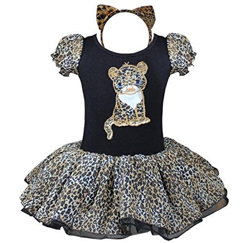 YiZYiF Mädchen Kinder Kostüm Ballettkleid Geburtstag Party Karneval Fasching Cosplay Halloween Kostüm Kleid mit Ohren (80-86, Schwarz ()