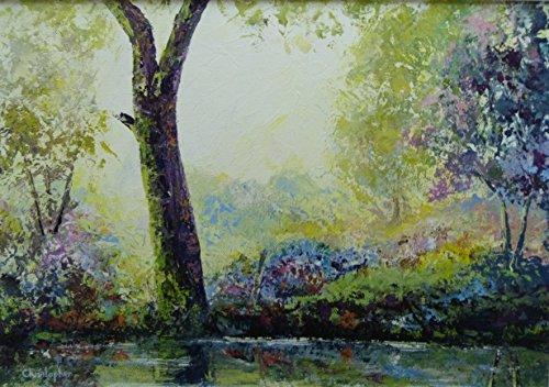 tranquillita-35-x-25-cm-pittura-impressionista-di-uno-scenario-incantevole-tranquilla-zona-boschiva-