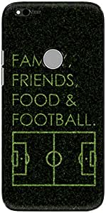 The Racoon Lean printed designer hard back mobile phone case cover for Google Pixel XL. (football f)