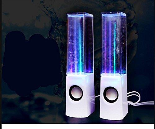 schwebender Globus Bluetooth Lautsprecher Tanzen Wasser Lautsprecher Creative Waterjet Audio Laptop Telefon Sound, White -