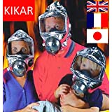 KIKAR Fire Escape Hood Mask Smoke Gas Oxygen Masque 60 Minutes Respirator D'intégrité Français Anglais Japonais - 5 year shelf life!