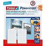 Tesa Powerstrips - Gancho para cuadros, color blanco