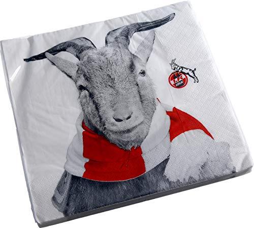 """1. FC Köln Servietten 20er Set """"Hennes"""""""