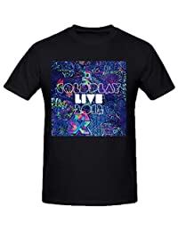 Coldplay Live Mens Funny t shirts O Neck XXXX-L