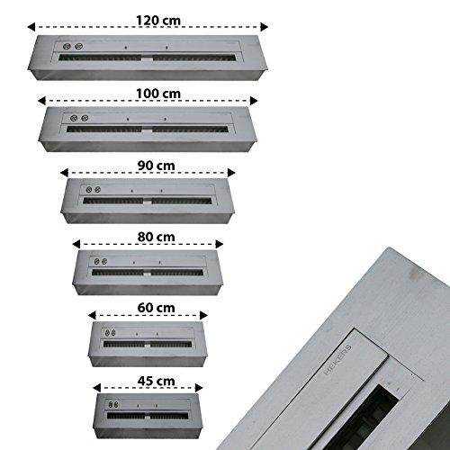 regulier Bare Bredemeijer Combustión de Acero Inoxidable Tamaño a Elegir) 45cm/60cm/80cm/90cm/100cm/120cm, divisible,...