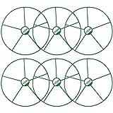 COM-FOUR® 6 supports ronds floraux et vivaces, pour fleurs, plants de vigne et vivaces, diamètre: 39 cm (06 pièces - Ø 39cm)