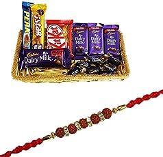 SFU E Com Rakhi for Brother with Chocolate Gift Combo 78 (RUDRADMFNSSFU1/NEWWW)