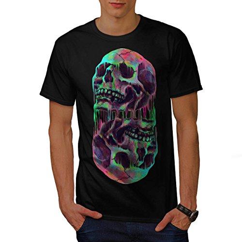 Schmelzen Schädel Fantasie Herren S T-shirt | (Schmelzen Hexe)