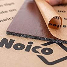 Noico RED 150 mil (4 mm) 36 sqft (3.4 sqm) Сar Sound Insulation, Heat and Cool Liner, Self-Adhesive Closed Cell Deadening Material (PE Foam Sound Deadener)