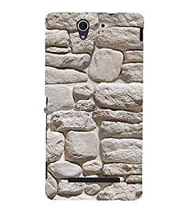 Print Masti Designer Back Case Cover for Sony Xperia C3 Dual :: Sony Xperia C3 Dual D2502 (Stone Lime Rock Graphical )