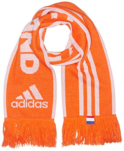 adidas Herren Fan-Schal Euro 2016 Holland, Orange/Weiß, One Size, AO4244