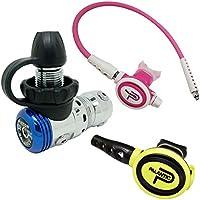 "Scuba Choice Palantic AS103DIN/scas2061""travel Lite"" ajustable regulador y octopus Combo, Pink(01)"