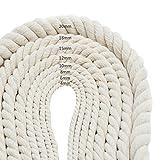 15mm di spessore corda intrecciata decorazioni fatte a mano cotone naturale corda di lavoro a maglia intrecciato filato decorativo bagagli con coulisse tenda legata corda