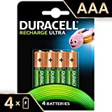 Duracell Ultra 5003449 AAA Rechargeable Batteries 900 mAh (Pack of 4, Green)