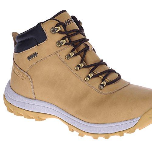 Hi-Tec norri Mid Waterproof Herren Schuhe Wanderschuhe Camel Braun Outdoor Boots Stiefel Wasserabweisend Braun (Braun-Grau)