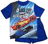 Cars Disney 3 Schlafanzug Jungen Shorty Lightning McQueen (Blau, 104)