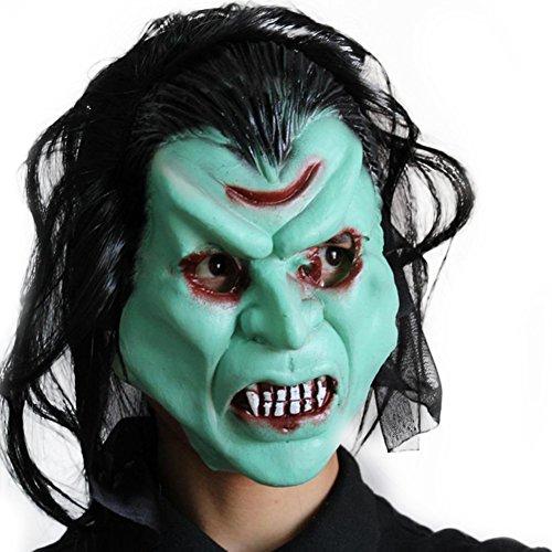 uesae Halloween Masken Erwachsene Scary Creepy Latex Monster Halloween Dekorationen Kostüm Party Cosplay Karneval Zubehör Make Up Thema Party 1 Un tama?o (D Themen Kostüm Party)