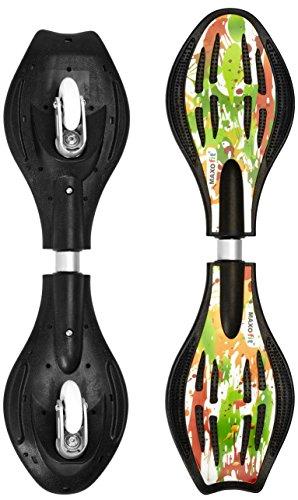 Waveboard MAXOfit® Pro Close Mini Paint | Bis 129 kg | Mit Leuchtrollen, Tasche und Zubehör