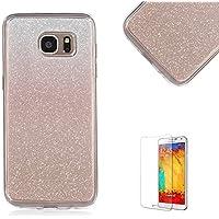 Custodia Samsung Galaxy S6 G920,Funyye Glitter Brillare Oro Rosa Graduale