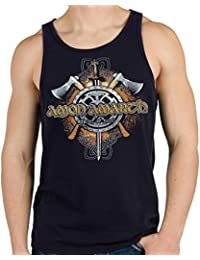 LaMAGLIERIA Camiseta de Tirantes Hombre Amon Amarth Viking Skull - 100% Algodòn D4hkjnPI