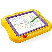 JOYJULY Big Size Kids Drawing Board, Magnetic Colorful Erasable Skill Development Drawing Board Blackboard For Baby/Kids/Children Big (Yellow)