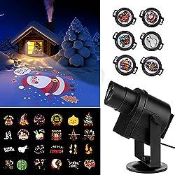 ACRATO DIY Proiettore Lampada LED Luci Illuminazione Proiezione Decorazione Natalizia da Giardino Esterno Parete Impermeabile per Natale Halloween Festa di Nozze Compleanno Vacanze Carnevale[Nuova Versione]