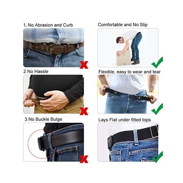VBIGER Cintura Uomo Donna Cintura Senza Fibbia per Uomo Donna Cintura Uomo Elastica Jeans Larghezza 5 spesavip