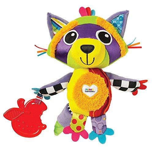 """Lamaze Baby Spielzeug\""""Waldi, der Waschbär\"""" Clip & Go - hochwertiges Kleinkindspielzeug - Greifling Anhänger zur Stärkung der Eltern-Kind-Beziehung - ab 0 Monate"""