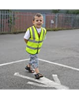 High Visibility Childrens Safety Vest Waistcoat Jacket Large Size
