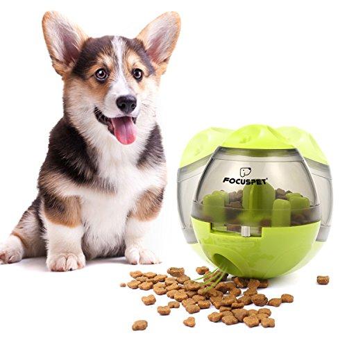 Focuspet Hunde Snackball Futterball, Hundespielzeug Hundeball IQ Leckerli Training Interaktive Kauspielzeug Geeignet Für Hunde Und Katzen Grün