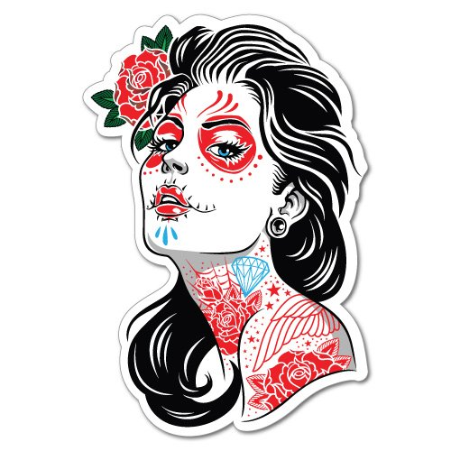 ady Girl Sticker Tattoo Art Sailor ()