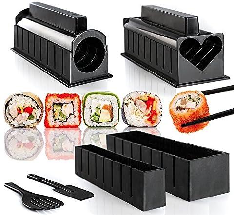 Kit de fabrication de sushi–6Cute Sushi formes–Instructions étape par étape