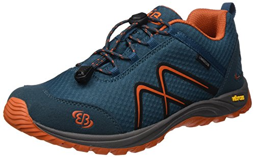 Bruetting Unisex-Erwachsene Guide Trekking-& Wanderhalbschuhe Blau (Petrol/Orange)