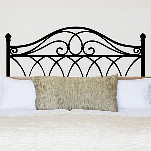 Vinilo decorativo con forma de cabecero de cama. Color negro. Medidas: 90x40cm