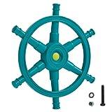FATMOOSE Schiffslenker WavePilot Schiffslenkrad Steuerrad für Spielturm mit Geräusch, türkis, Ø54cm