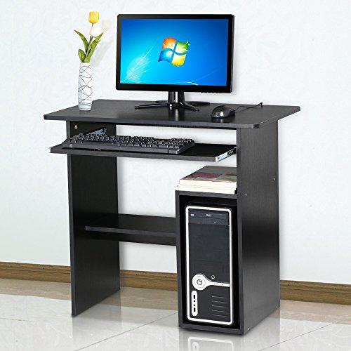 Beyondfashion BLACK COMPUTER DESK KEYBOARD SHELF HOME/OFFICE PC/LAPTOP WORKSTATION/TABLE