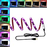 150cm 45LEDs TV Backlight Kit Bias Iluminación LED Led RGB para TV PC de escritorio, ANSCHE Stick-on Anyplace LED Rope Color Cambio de fondo Iluminación ambiental Impermeable Decoración Mood Lights IP65