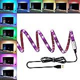 ANSCHE TV LED posteriore di illuminazione Kit, 150 centimetri 5V striscia USB RGB LED, impermeabile Bias Illuminazione per HDTV e PC Monitor (ridurre l'effetto occhi fatica e aumentare la nitidezza delle immagini) - ANSCHE - amazon.it