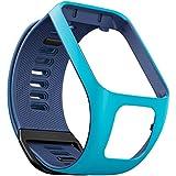 TomTom - Bracelet pour Montre TomTom Runner 3, Spark 3, Runner 2 & Spark Taille Fin Bleu Clair/Bleu Marine (ref. 9UR0.000.07)