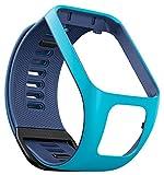 TomTom Bracelet pour Montre RUNNER 3, SPARK 3, RUNNER 2 & SPARK - Taille Fin - Bleu Clair/Bleu Marine