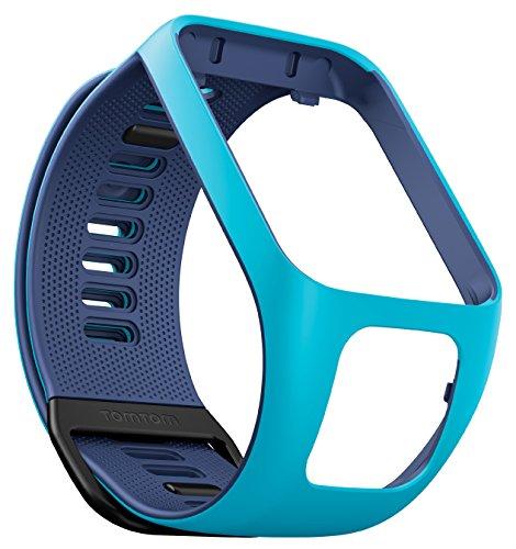 TomTom Wechselarmband für TomTom Spark 3 / Spark / Runner 3 / Runner 2 GPS-Uhren, Hellblau/Marinebla