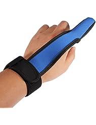 DcolorCoulee doigt de gant Stall Protector mer Fly Peche a la carpe Bleu