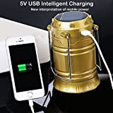 #5: Famous Quality® Solar Emergency Light Lantern, USB Mobile Charging Point, Rechargeable Night Light Travel Camping Lantern Multi- Colour