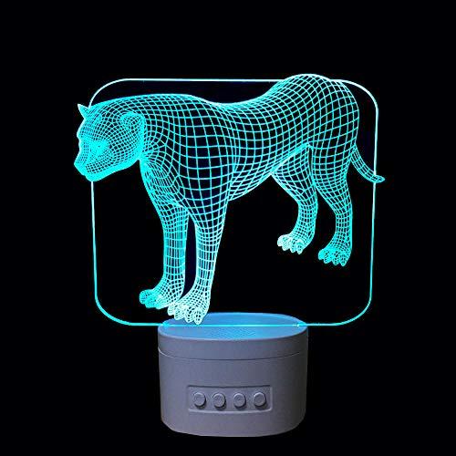 Nachtlicht Bluetooth Lautsprecher Tier Musik Lampe 5 Farbwechsel LED Baby Schlafzimmer Nachtlicht Schwarz Basis ()
