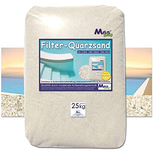 MGS SHOP Filtersand Quarzsand geprüfte Qualität Körnung wählbar (1-2mm)