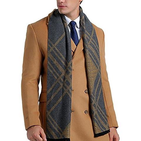 YOUR GALLERY Bufanda Hombre clásico invierno de Super Soft largo de la tela escocesa de la bufanda de