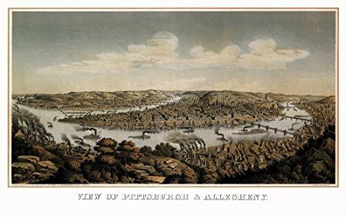 County Pittsburgh Pennsylvania (The Poster Corp Historic Map of Pittsburgh Pennsylvania 1874 Allegheny County Kunstdruck (60,96 x 91,44 cm))