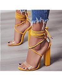 Amazon.es  Sandalias Transparentes - Último mes   Zapatos para mujer ... 40584afaa1ad