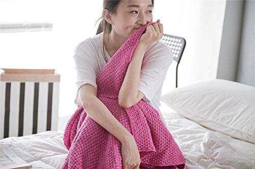 Gestrickte Mermaid schwanz Wolldecken Wolldecken home sofa Studie Mittagsschlaf Decke dünn klimatisierte Lounge,, 50 * 90 cm, für Kleinkinder, das Pulver (Kleinkind-pulver)