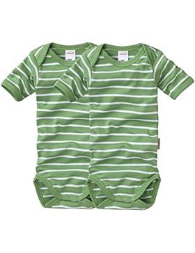 wellyou Baby und Kinder kurzarmbody/baby-body mädchen und junge aus 100% Baumwolle, kurzarm body in grün weiß...